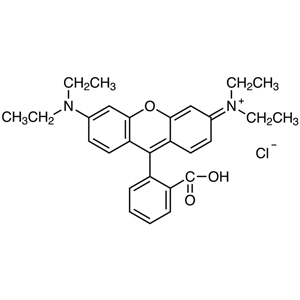 Rhodamine B [Ion association reagent for photometric and fluorimetric analysis]